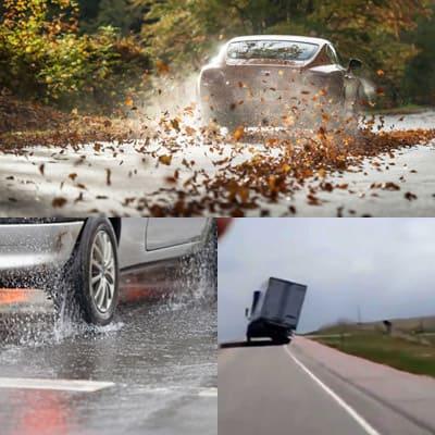 Меры предосторожности и советы для вождения автомобиля при сильном ветре.